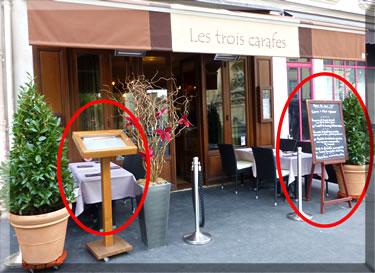 Les Trois Carafes, best affordable Paris restaurants.