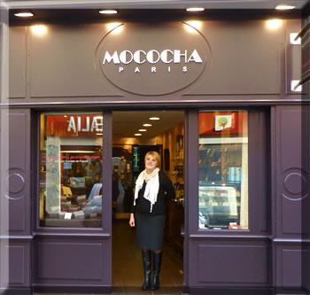 Mococha is a chocolate shop in Paris.
