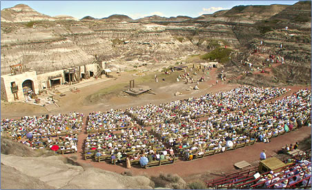 """Alberta's Badlands is the perfect """"Holy Land"""" back-drop for Canada's acclaimed Passion Play enacted each July."""