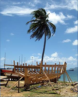 Petite Martinique, Grenada boat building, Grenada islands holidays.