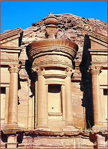 Petra, Jordan archaeological site.