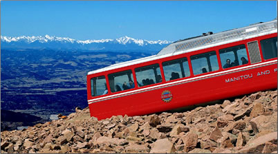Pikes Peak Cog Railway Colorado.