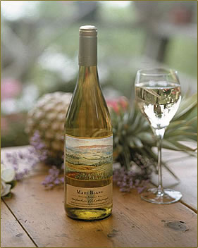 Maui's Winery offers signature Pineapple wine in its tasting room, a part of Maui's Upcountry Agri-Tourism.