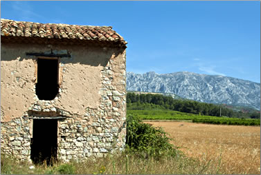 Scenery on driving tours in Provence France.
