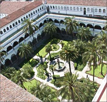 La Compania de Jesus Church is the most beautiful structure in Quito, Ecuador.