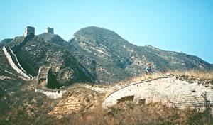 Great Wall of China senior travel hiking vacation.