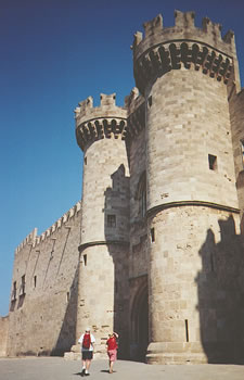 Main entrance to Rhodes' medieval city