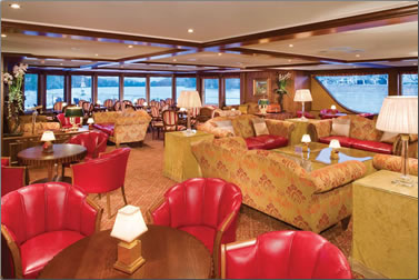 Lounge area on the River Royale river cruise with Uniworld.