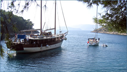Romanca motorsailer on a ROW International Croatia cruise.