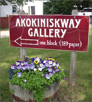Art galleries are part of Rosebud, Alberta's rural historic tourism.