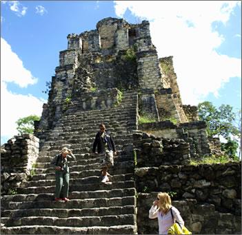 Mayan Muyil Pyramid in Sian Kaan Biosphere Reserve.