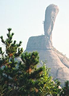 Sledge Hammer Hill near Great Wall of China hiking vacation.