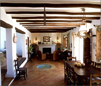 Interior of a countryside villa in Spain.