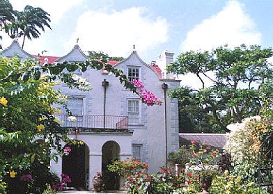 Restored plantation manor house in Barbados.