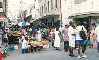 Street vendors in Barbardos