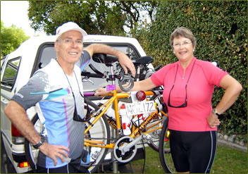 Seniors cycling vacations in State of Victoria, Australia.