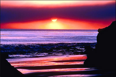 Sunset image inspires physical, mental, and spiritual vacation ideas.
