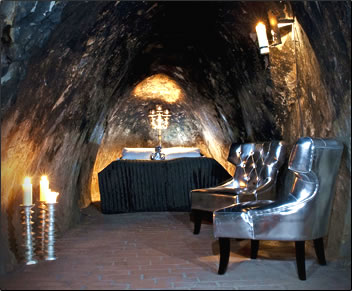 The Silver Mine Suite, unconventional accommodation 500 feet below ground in Sweden.