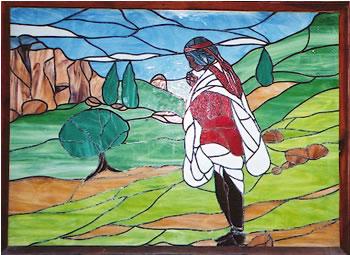 Tarahumara mural.