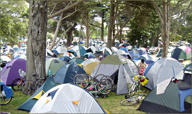 The Great Victorian Bike Ride is an Australia camping vacation.