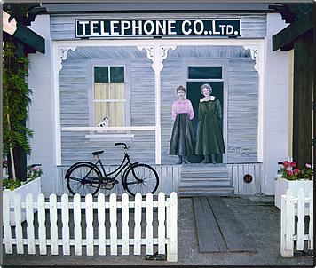 Chemainus, BC, Canada mural of 1915 telephone exchange.