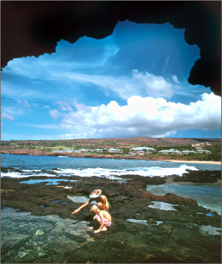 Explore tidal pools: Lanai is least known or visited of Hawaii's big six islands; learn how that's changing.