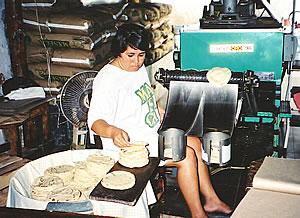 Tortilla factory in El Quelite, Mexico.