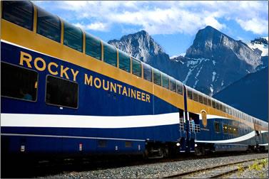 Canadian Rockies train journey, rail journey Jasper to Vancouver.