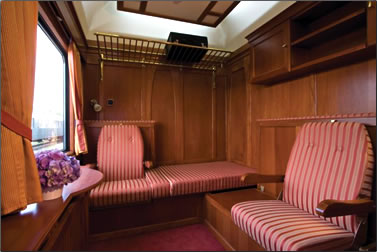 Golden Eagle Danube Express deluxe train suite.