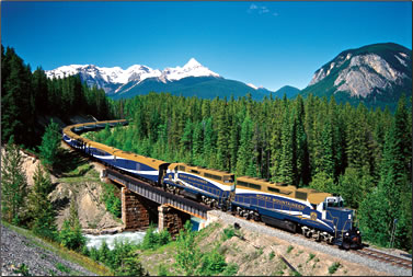 Rocky Mountains rail journey with Rocky Mountaineer.