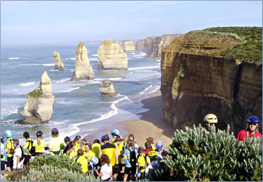 Great Ocean Road in Victoria, Australia is the Great Victorian Bike Ride venue.
