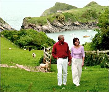 Country walk in Devon, UK, farm holidays in Europe.