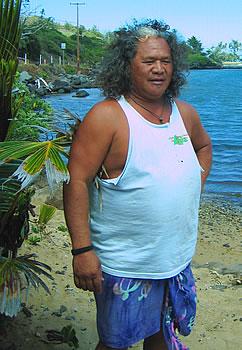 Hawaiian elder on Molokai.