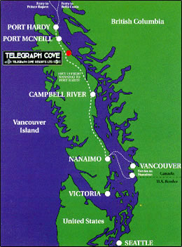 Map of Vancouver Island.