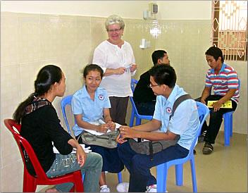Teaching children in Cambodia: senior-friendly volunteer holidays worldwide.