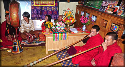Traditional marriage ceremony in Bhutan.