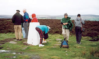 The windy moors in Yorkshire, England visited on Elderhostel educational tour.