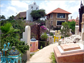 Xcaret, Mexico cultural heritage, Mexican village cemetery.