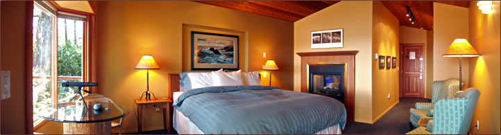 A Snug Harbour Inn, bedroom suite, Ucluelet, British Columbia.