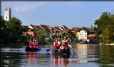 Switzerland's Aare River Canoe Route.
