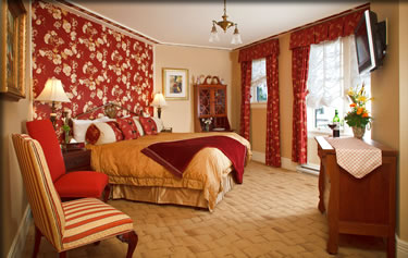 Abigail's Hotel bedroom, Victoria, BC.