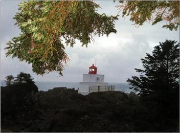 Amphritite Lighthouse, Wild Pacific Trail, Ucluelet, British Columbia.
