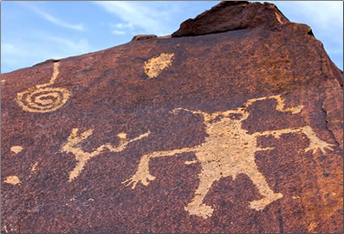 Petroglyphs on Utah's Anasazi Ridge.