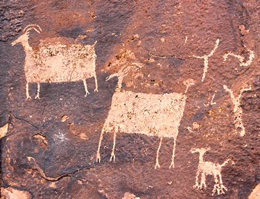 Petroglyphs on Utah's Anasazi Ridge.