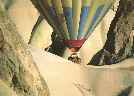 Alison Gardner, describes her first ballooning ride over the dramatic Cappadocia scenery of Turkey.
