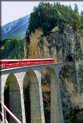 Bernina Express railway, Switzerland.
