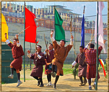 Cultural travel in Bhutan.