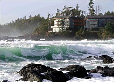 Sea view of Black Rock Oceanfront Resort, Ucluelet, B.C.