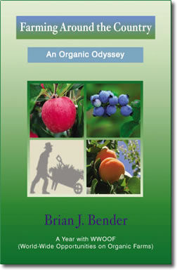 "Book cover for ""Farming Around the Country: An Organic Odyssey"" by Brian J. Bender."