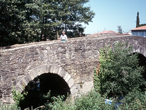 A Romanesque bridge on the Camino de Santiago pilgrimage walk